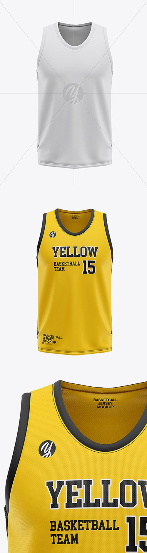 Download Mens U-Neck Basketball Jersey Mockup - Front View 36120 ...