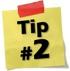 Tip #2: