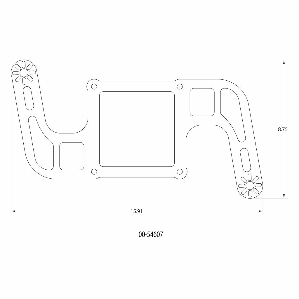 Stinger 3 Standard Wet 4500 Boomerang Nitrous Plate System