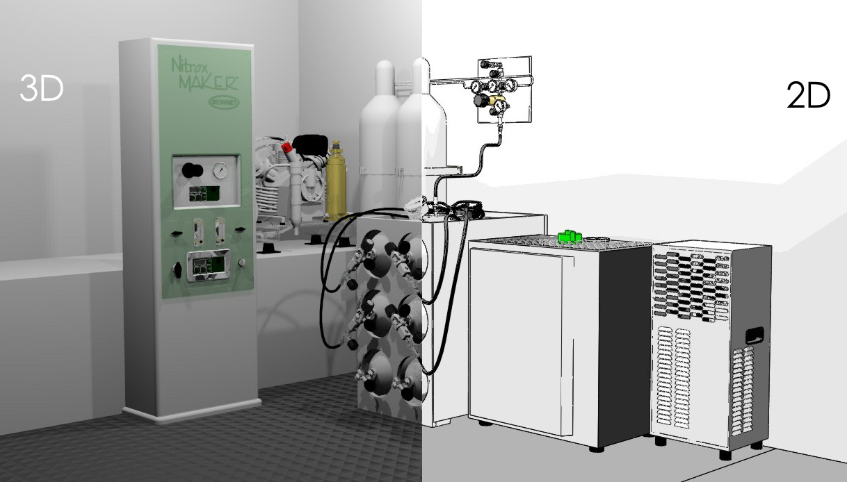 SCUBA tank fill Nitrox Maker Compressor