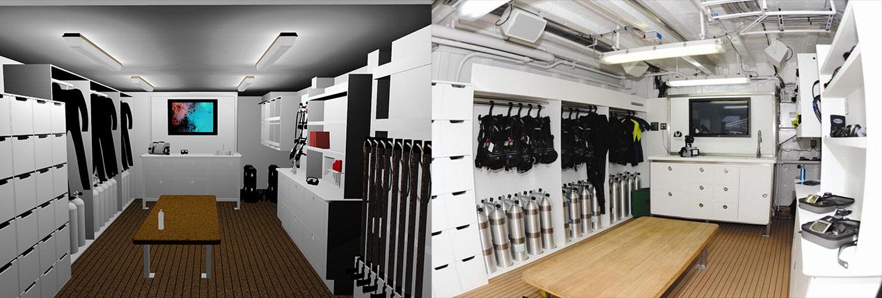 dive locker install Brownie's Marine tank fill