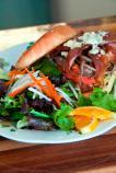 Blue Moon Burger with salad