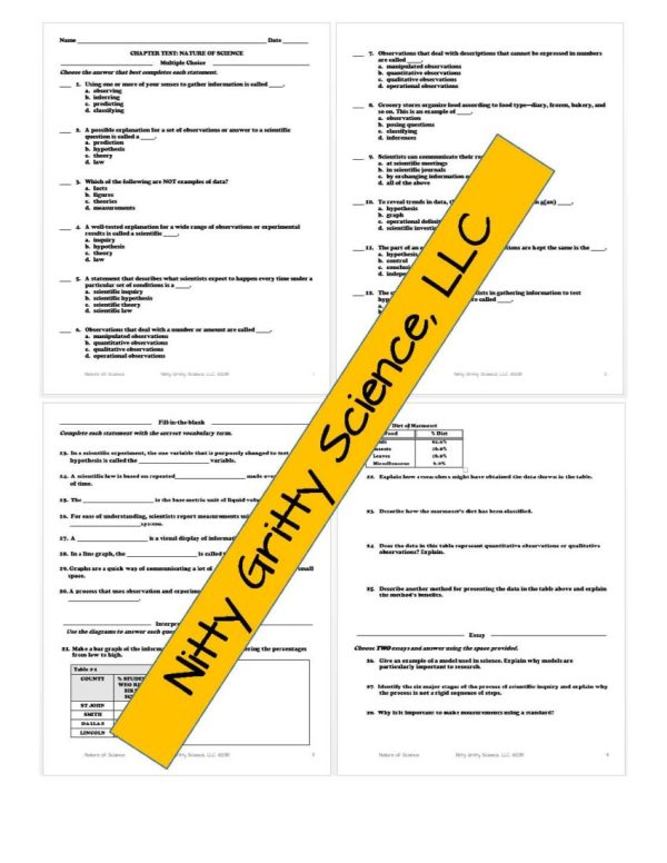 2294482 Page 6 - Nature of Science: PowerPoint, Notes & Test ~ EDITABLE!