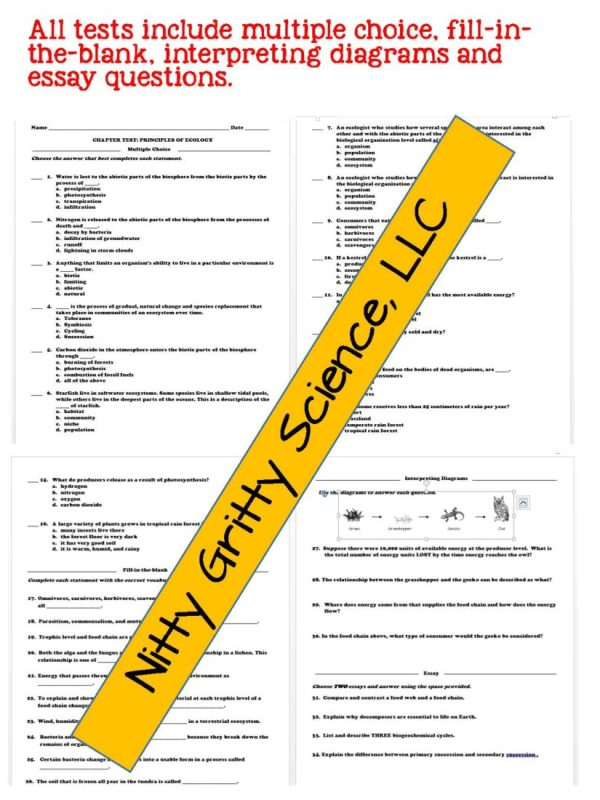 2302221 Page 7 - Life Science Curriculum - Notes, PowerPoint, and Chapter Tests ~ EDITABLE Bundle