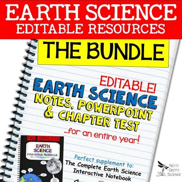 BUNDLE 1 - EARTH SCIENCE CURRICULUM - THE COMPLETE COURSE ~ 5 E Model