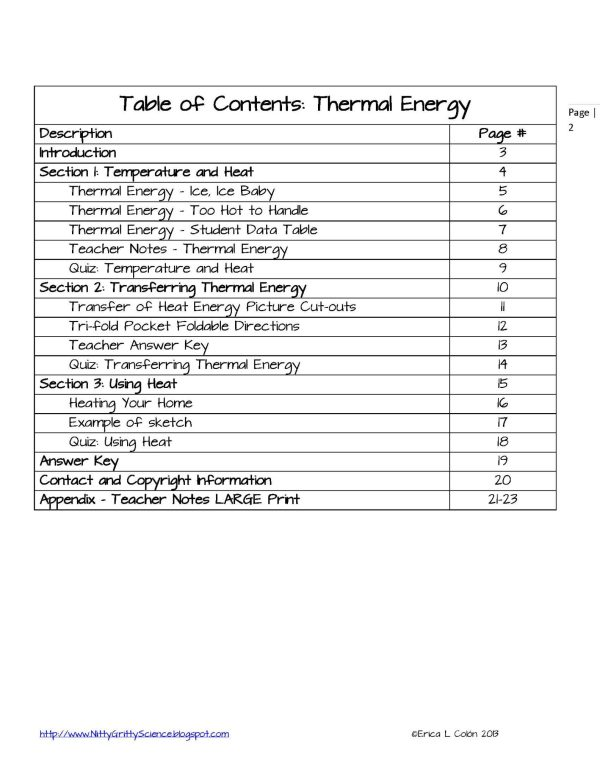 DEMO THERMAL ENERGY Page 2 - Thermal Energy