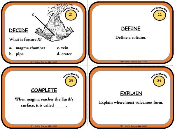 Forces that Shape the Earth Page 08 - Forces that Shape the Earth: Earth Science Task Cards