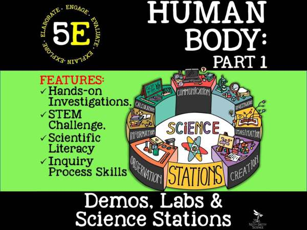 Preview Human Body Part 1 Page 01 - LIFE SCIENCE Demos, Labs & Science Stations BUNDLE