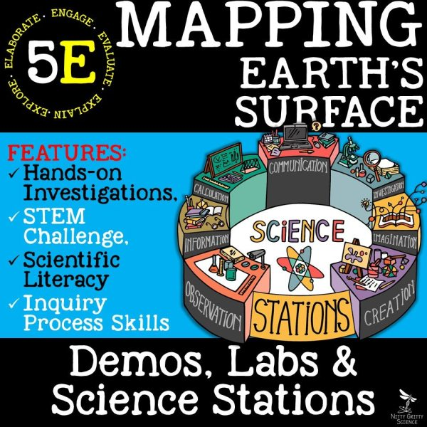Preview Mapping Earths Surface Page 1 - MAPPING EARTH'S SURFACE - Demos, Lab and Science Stations