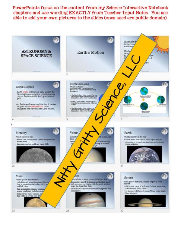 demoEarthScienceNotesChapterTestAstronomyandSpaceScienceEDITABLE1806609 Page 5 - Astronomy and Space Science: Earth Science Notes, PowerPoint & Test ~ EDITABLE!