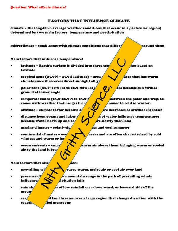 demoEarthSciencePowerPointNotesTestEarthsAtmosphereEDITABLE2290257 Page 4 - Earth's Atmosphere: Earth Science PowerPoint, Notes & Test ~ EDITABLE!