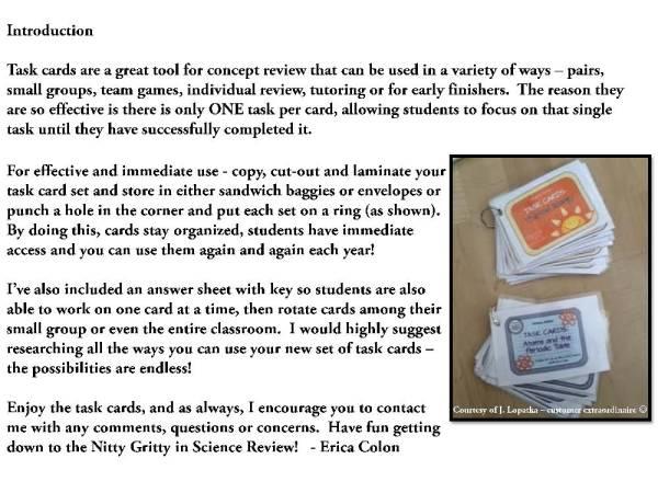 demoEarthScienceTaskCardBUNDLE2093572 1 Page 02 - Earth Science Task Card BUNDLE