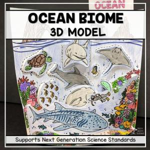 ocean biome model 3d model biome project featured image - Ocean Biome Model - 3D Model - Biome Project