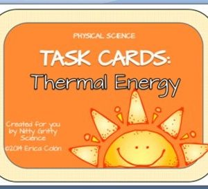 original 1240057 1 - Thermal Energy: Physical Science Task Cards