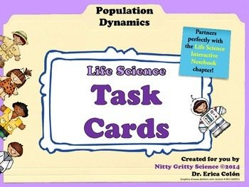 original 1450704 1 - Population Dynamics: Life Science Task Cards