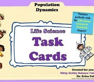 original 1450704 1 - Population Dynamics: Life Science Task Cards
