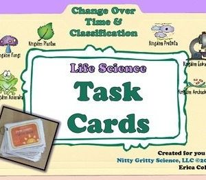 original 1618988 1 - Change Over Time & Classification - Life Science Task Cards