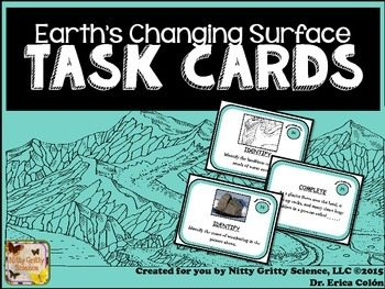 original 2174602 1 - Earth's Changing Surface: Earth Science Task Cards