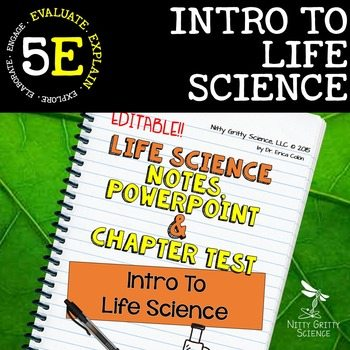 original 2302282 1 - Intro to Life Science: Life Science PowerPoint, Notes and Test ~ EDITABLE!
