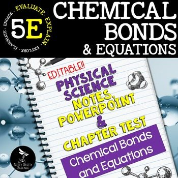 original 2417345 1 - Chemical Bonds and Equations: PS Notes, PowerPoint & Test ~ EDITABLE