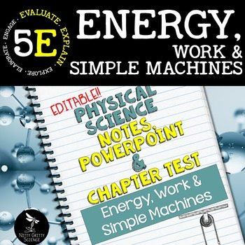 original 2443708 1 - Energy, Work & Simple Machines: PS Notes, PowerPoint and Test ~ EDITABLE