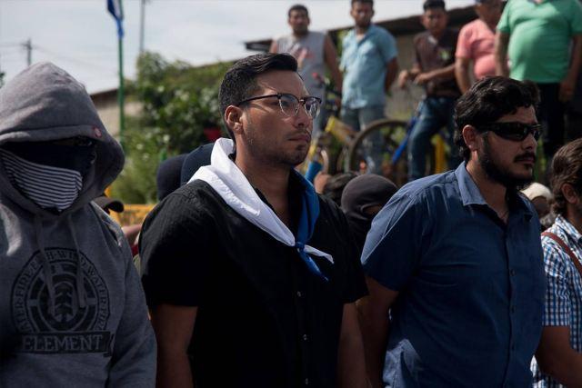 Yubrank Suazo se integró a la protestas cívica desde el 18 de abril del 2018. Carlos Herrera   Niú