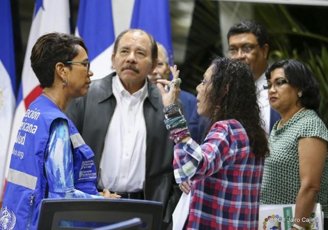 Daniel Ortega y Rosario Murillo sobre el coronavirus en Nicaragua