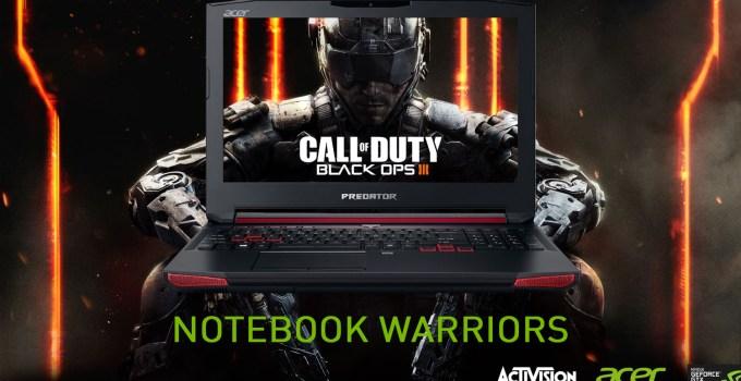notebook warriors nvidia acer