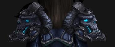 Shoulder armour back