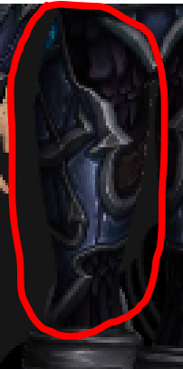 Thigh armour back