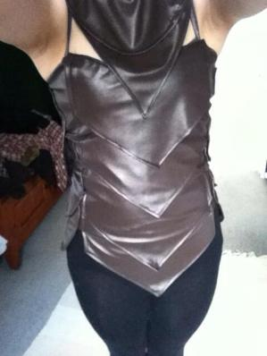 Front and side scales sewn