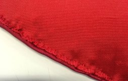 Close up of whipstitched lining
