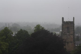 View from the tower of real English weather