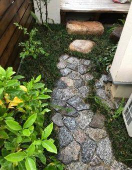 裏庭の小道
