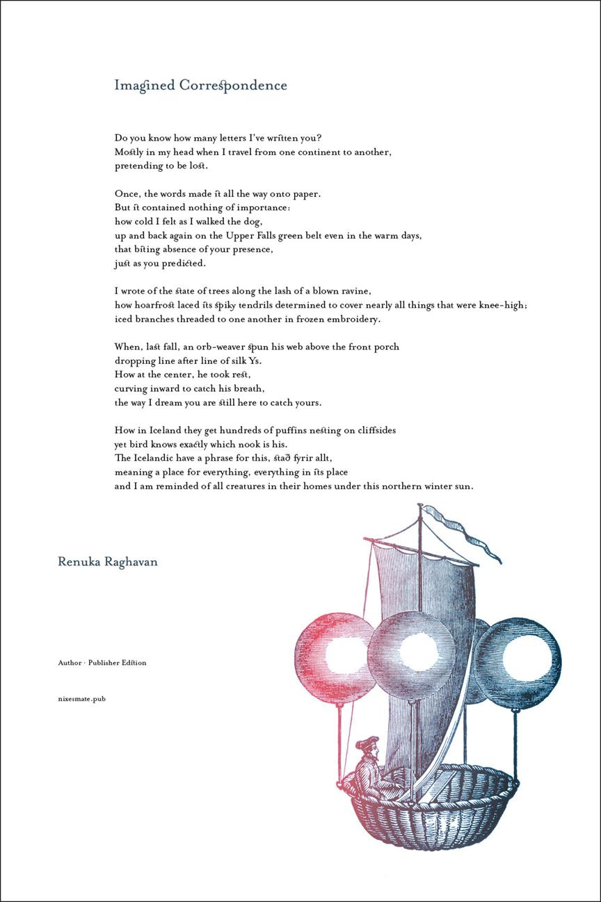 IMAGINED CORRESPONDENCE · RENUKA RAGHAVAN