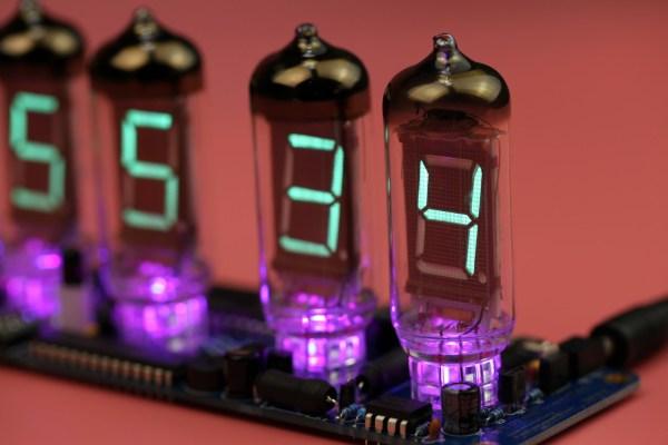 VFD Nixie Tube DIY Clock IV-11 PCB with IV-11 tubesVFD Nixie Tube DIY Clock IV-11 PCB with IV-11 tubes
