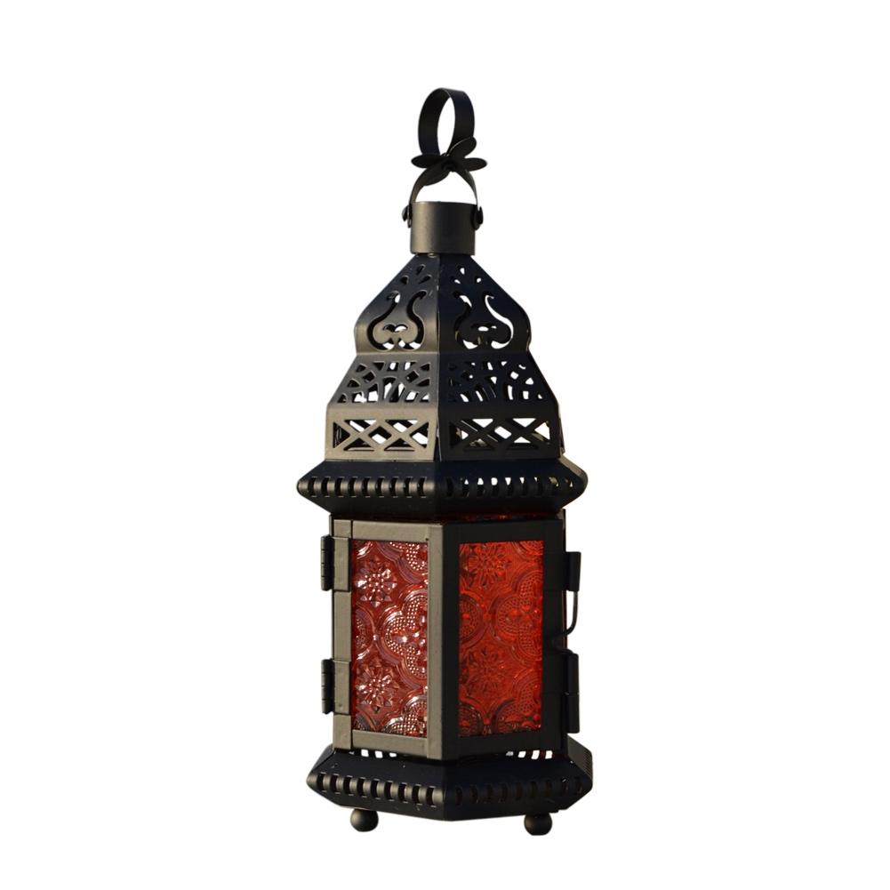 Moroccan Vintage Glass Metal Delight Garden Candle Holder