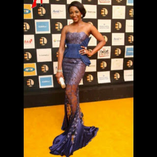 Genevieve Nnaji In Fortune Dress Made By Deola Sagoe At Ebony Life TV launch