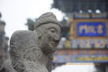 Patung didepan Gerbang Su Yuanmen Street.
