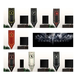 Game-Of-Thrones-Stark-Targaryen-Greyjoy-Lannister-Bolton-House-Families-Flag-Home-Decor-Wolf-Dragon-Polyester flag