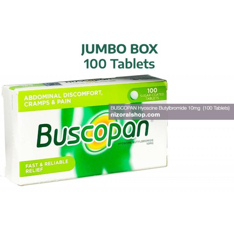 Buscopan Hyoscine Butylbromide 10mg (JUMBO BOX - 100 Tablets)