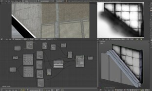 concrete dirtmask texture and shading nodes