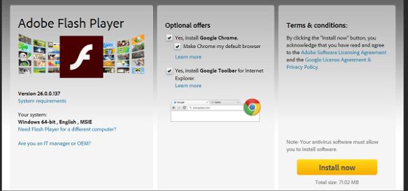 Flash Web installasjon