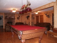 The pool table and living room area. | Life in Camo ...