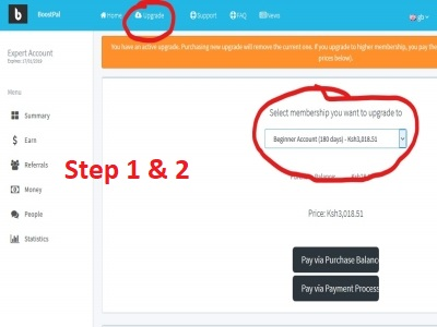 How to Deposit and Upgrade BoostPal Membership - Njawatech