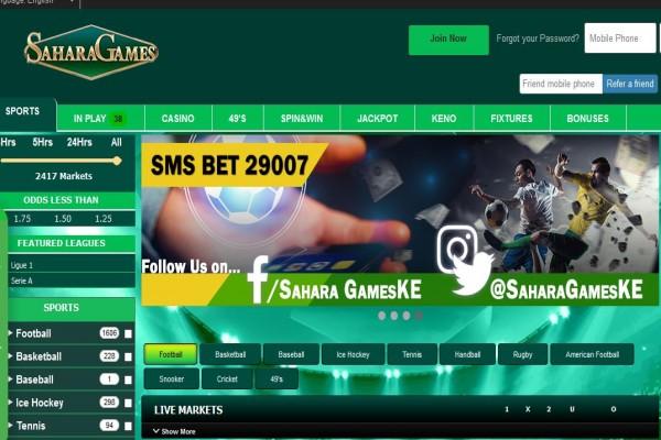 Sahara Games Registration, App, Bonus, Minimum Stake and PayBill Number