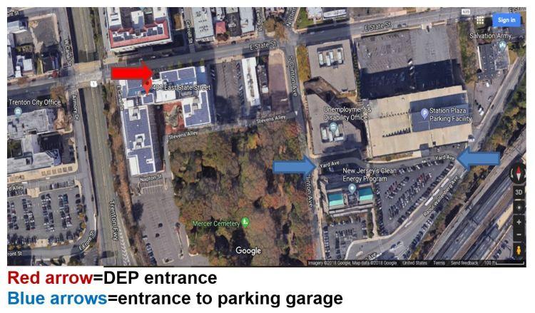 DEP Parking info