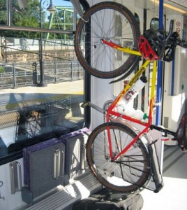 Bicycle on train