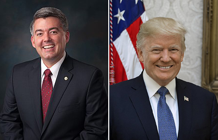 Portraits of Senator Gardner and President Trump