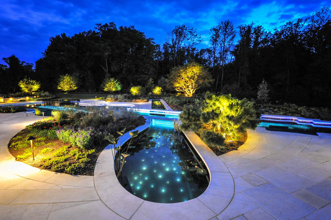 Bedford Ny Glass Tile Pool Amp Spa Cipriano Landscape